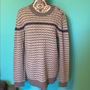 Armani Exchange Knit Sweater Btn Shoulder Design L